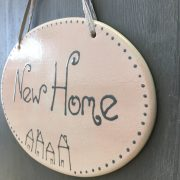 New Home Plaque side view